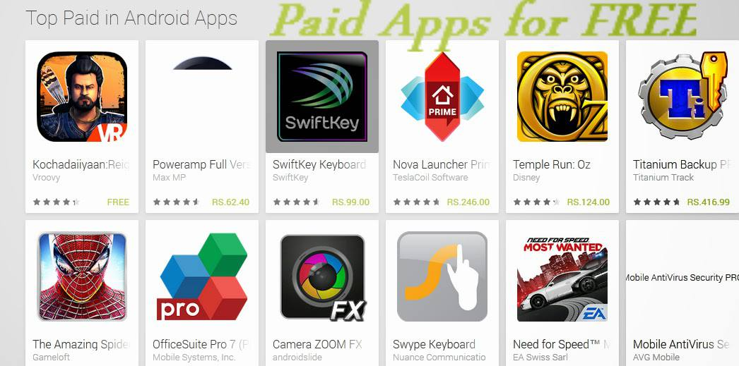 download Android paid apps for free
