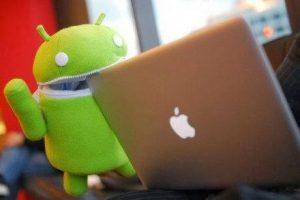Android-biting-Mac