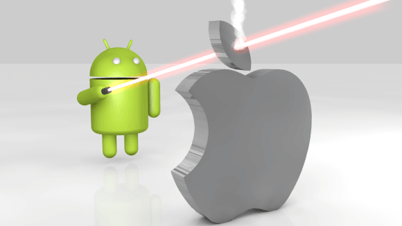 Android-shooting-Apple