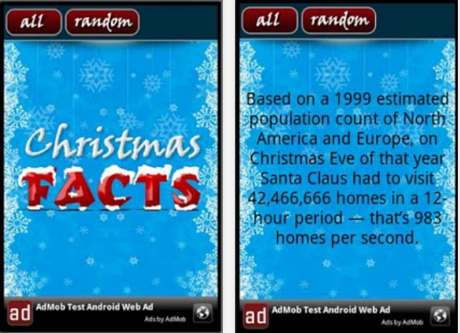 Christmas Facts Screenshots