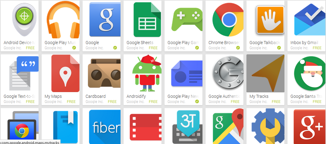 best android apps of google inc