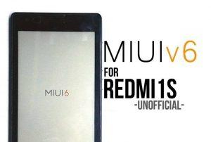 Install MIUI 6 ROM on Xiaomi Redmi 1S