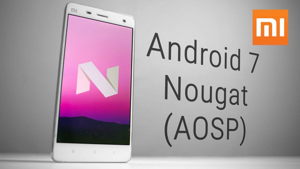 xiaomi android nougat 7.0 update