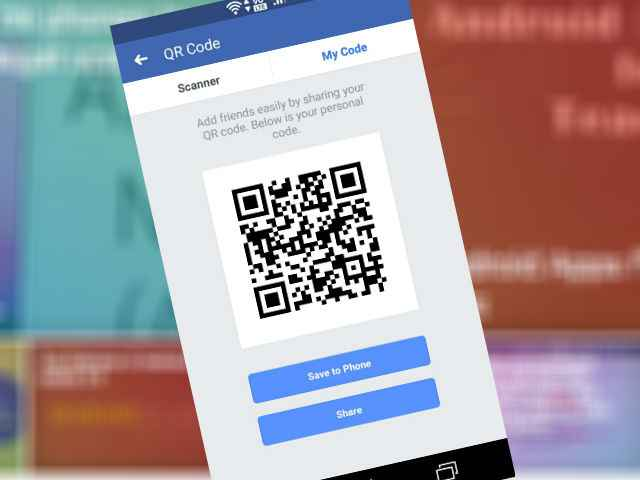 "FB added new feature ""QR code scan""- How to scan and How to"