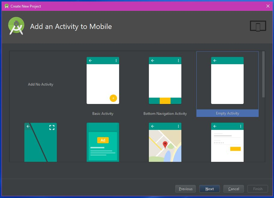 Add an Activity to Mobile - The Android Mania