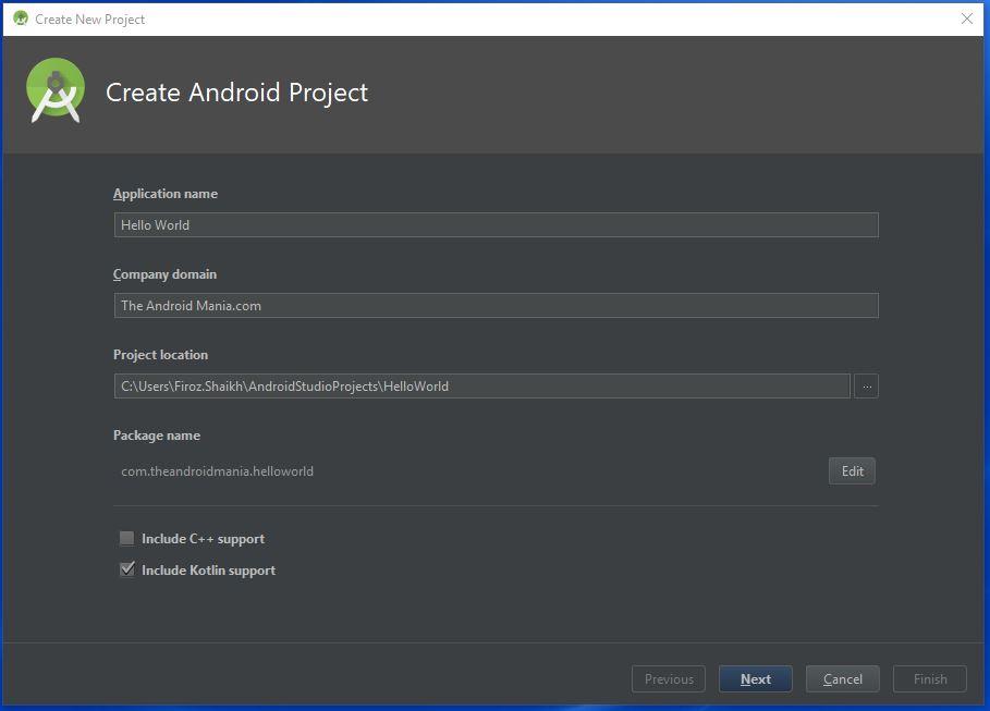 Opret Android-projekt med Kotlin - Android-manien
