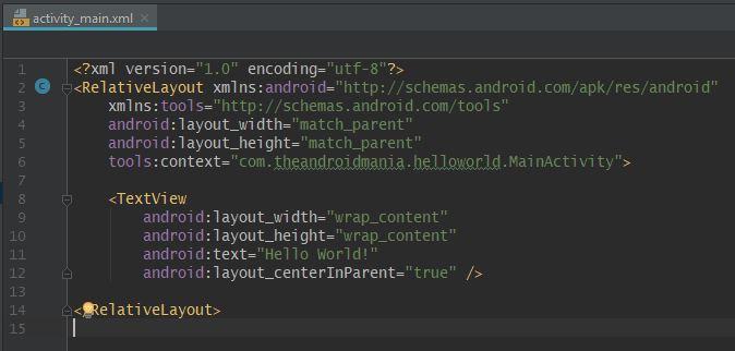 activity_main.xml-fil - Android-manien